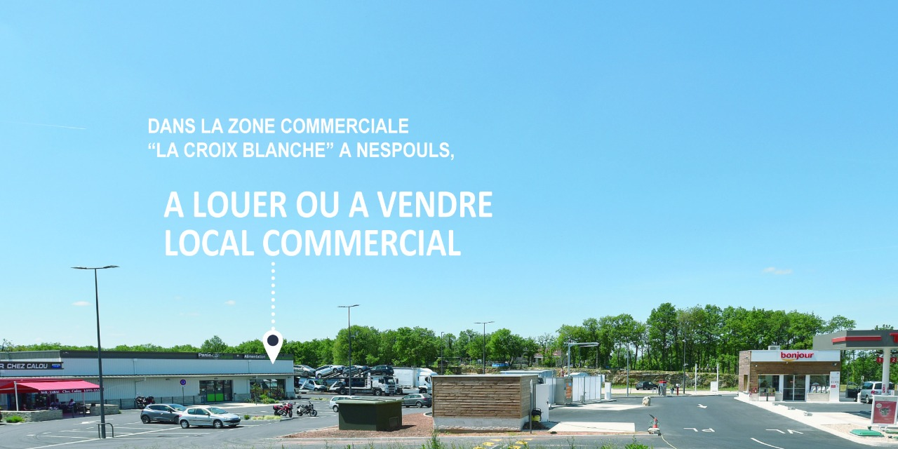 Grand local commercial de 250 m²