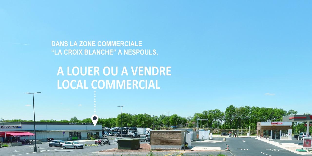 Grand local commercial de 250 m²