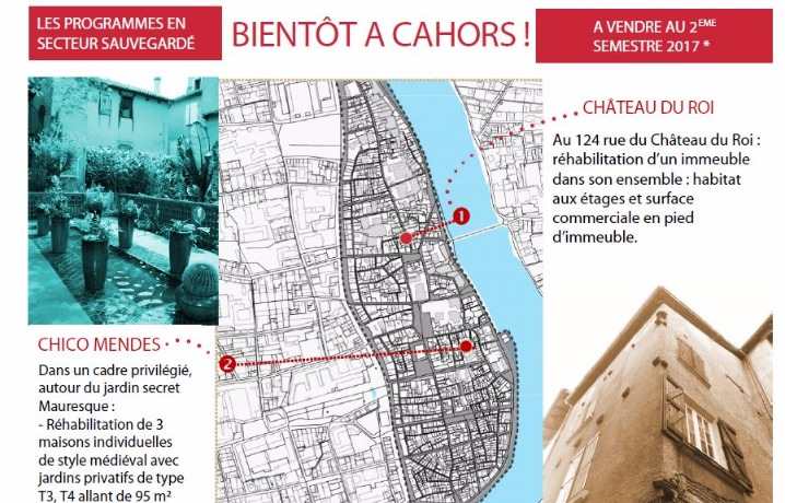 Bientôt à Cahors les programmes immobiliers en secteur sauvegardé