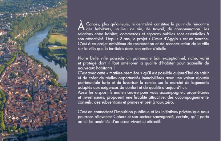 Cahors - secteur sauvegardé - investir à Cahors - qualité d'habiter - immobilier accessible