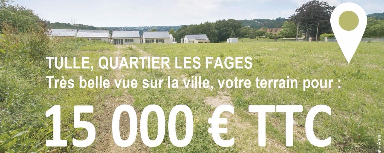 Quartier les Fages / votre terrain à 15 000 € TTC