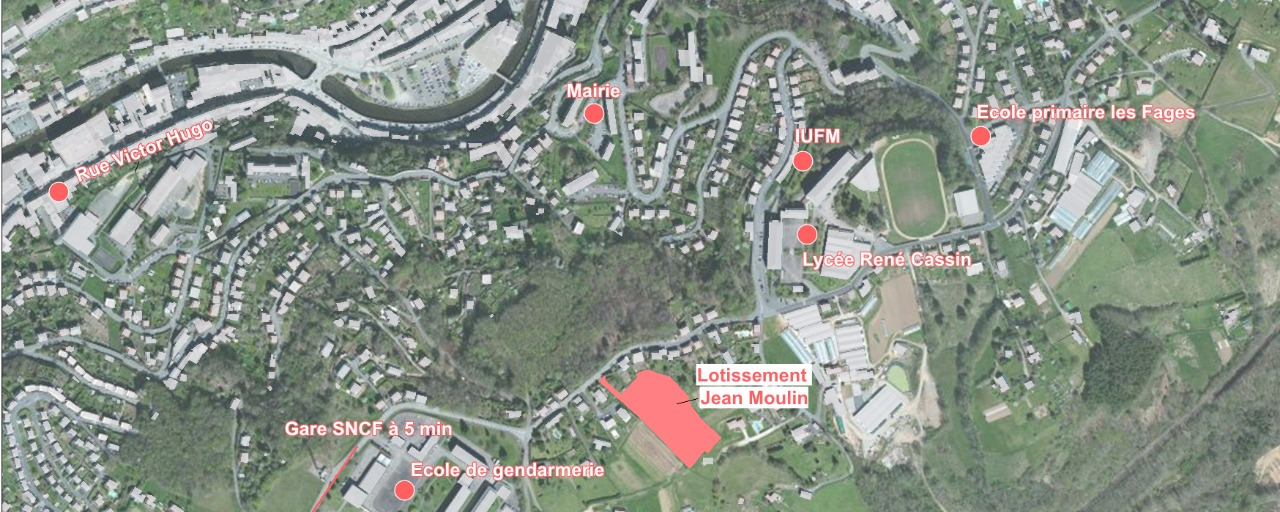 Plan situation Lotissement Jean Moulin