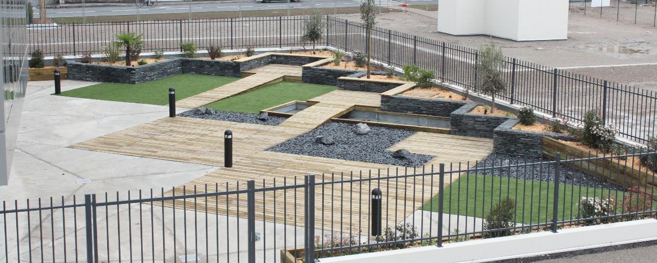 Brive jardin du batiment UNOFI quartier Brune
