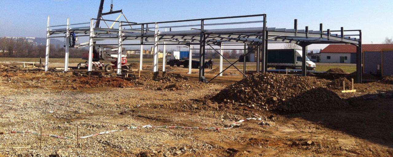 premeière construction sur la ZA de Brive Laroche