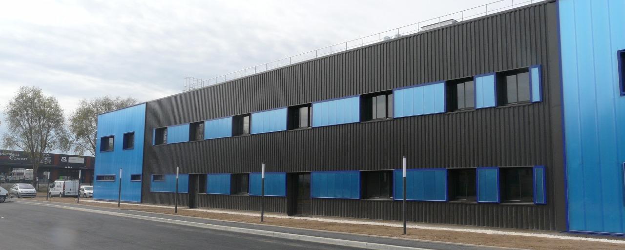 Construction de la nouvelle unité de production de Deshors Moulage filiale de AD Industrie à Brive