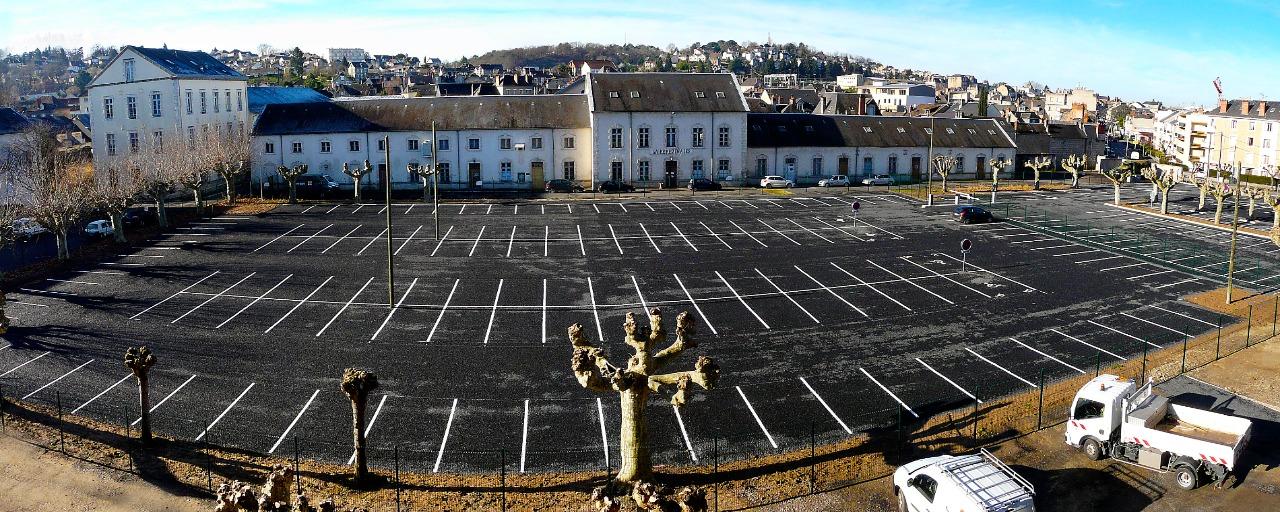 aménagement du parking provisoire Brune Brive