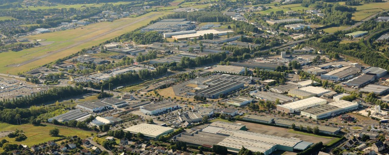 vue aérienne de la ZA de Brive Laroche